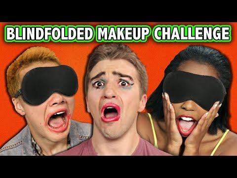 BLINDFOLD MAKE-UP PUNISHMENT CHALLENGE!!! (ft. React Cast)