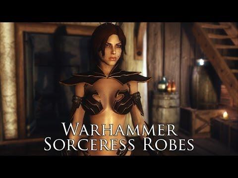 TES V - Skyrim Mods: Warhammer Sorceress Robes