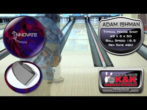 Ebonite Innovate Bowling Ball Thrown By Adam Ishman Of K&amp K Bowling Services