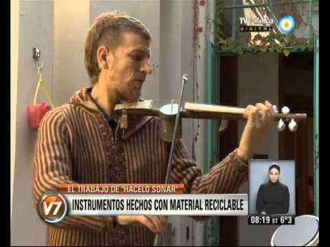 Visión 7: Instrumentos musicales hechos con material reciclable