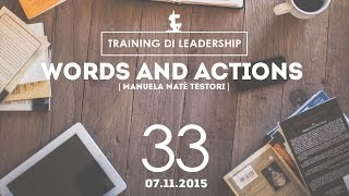 Training Leaders @ Milano |  Words and Actions - Manuela Matè Testori | 07.11.2015