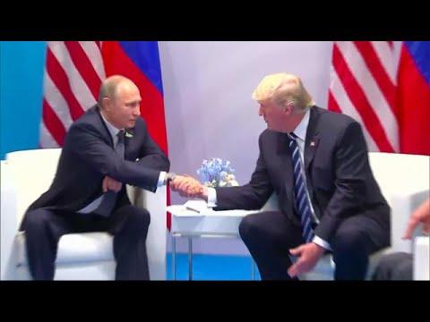 U.S. President Donald Trump and Russian President Vladimir Putin meeting