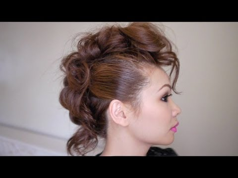 trendy mohawk hairstyle tutorial  youtube