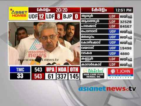 Vayalar Ravi response after Congress Party Admits Defeat