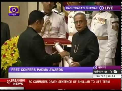Sri Kamal Haasan Receiving Padma Bhushan Award Video - Thanks Doordarshan