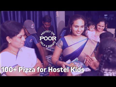 పిజ్జా పంపిణీ | Pizza Charity from First Youtube Payment by Telugu Vlogger #AnvithaVlogs