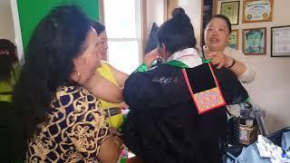 Dia wearing hmong clothes - hmong wedding