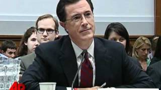 Raw Video: Colbert Asked to Leave Hearing