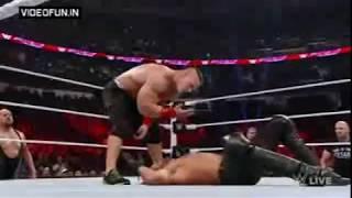 John Cena Vs Seth Rollins WWE Fight 2015
