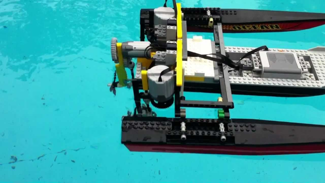 lego technic rc boat power functions motors youtube. Black Bedroom Furniture Sets. Home Design Ideas