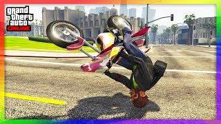 😱 DAS IST UNGLAUBLICH !!   NIE WIEDER VOM MOTORRAD FALLEN IN GTA ONLINE !! 😱   WFG HD