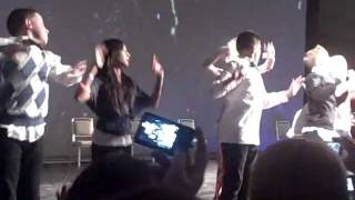 ICONic Boyz Chicago Concert: The Boyz dancing with fans!