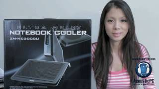 Zalman ZM-NC3000U Quiet Notebook Cooler - Review AcousticPC.com