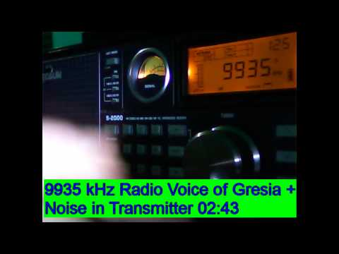 9935 kHz Helliniki Radiophonia  / Radio Voice of Greece , Avlis , Greece