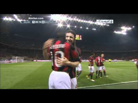 Ac.Milan Vs Sampdoria Goals And Highlights Seedorf Goal 3-0