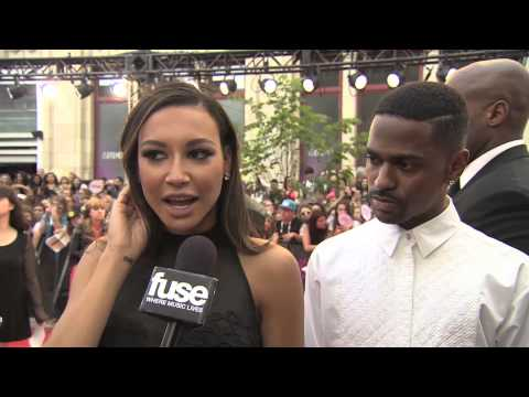 Big Sean & Naya Rivera at MMVA Red Carpet 2013