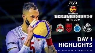 FIVB Volleyball Men's Club World Championship 2019| Highlights | Day #1 (HD)