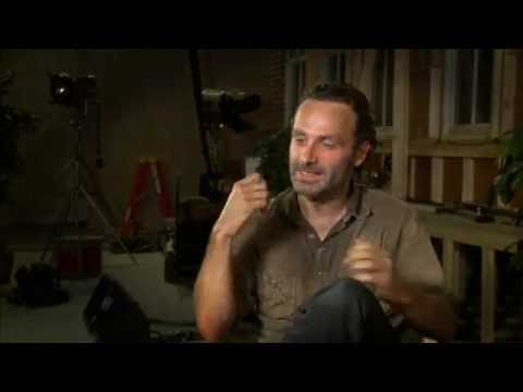 Andrew Lincoln mocking the Governor - Interview
