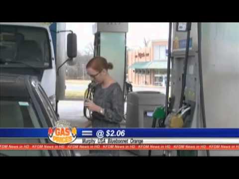 Gas Buddy -- Texas gas avg. prices down to%2