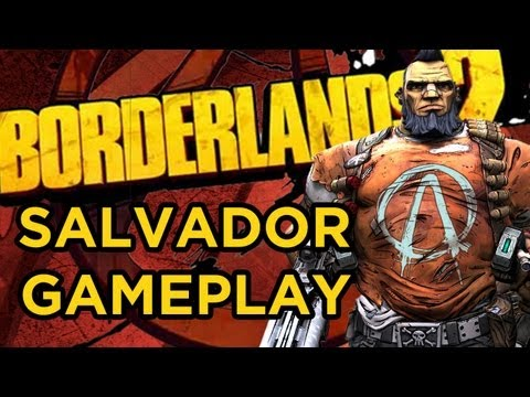 Borderlands 2 SALVADOR Gameplay Walkthrough! 10 Minutes in Caustic Caverns with the Gunzerker