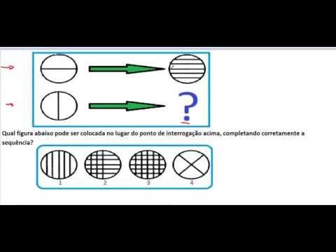 Curso de Raciocínio Lógico Teste Psicotécnico e psicológico Raciocínio abstrato Figuras geométricas