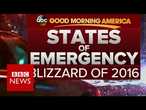 Blizzard 2016: How US TV is reporting the snowstorm - BBC News