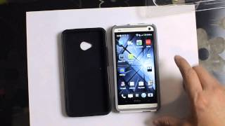 HTC One Otterbox Commuter Case Unboxing and Impressions