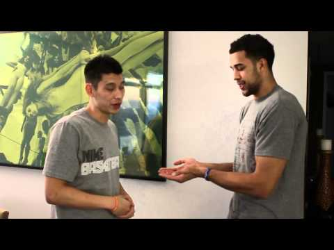 "Jeremy Lin and Landry Fields ""Secret"" Handshake"