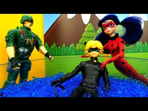 Мультик Леди Баг и Супер кот - Эдриан в армии