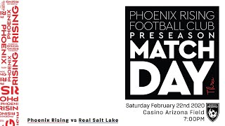 2020 Visit Tucson Sun Cup Phoenix Rising FC vs. Real Salt Lake