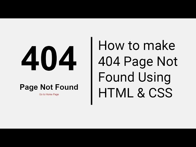 404 Page Not Found Page Design Usign HTML And CSS thumbnail