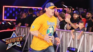 A vocal WWE Universe greets John Cena: SummerSlam 2017 (WWE Network Exclusive)