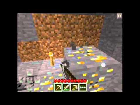 Minecraft PE:Sobrevivência 4# A Mina achei DIAMANTES:::