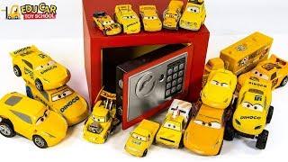 Learning Color Disney Pixar Cars Lightning McQueen Mack Truck Magic Safe box for kids car toys