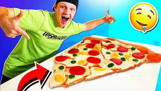 WORLD'S LARGEST GUMMY PIZZA SLICE! (60,000 CALORIES)