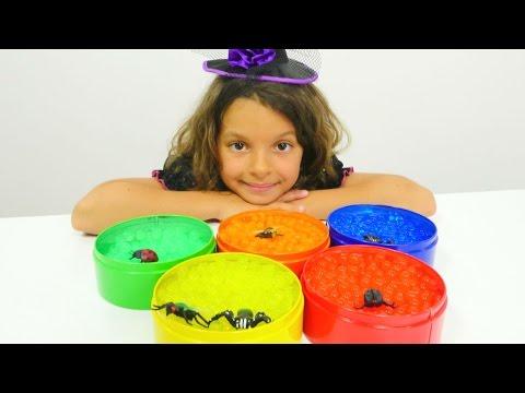 Маленькая ведьмочка Кати - Выращиваем шарики Орбиз - Видео для детей