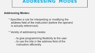 CPU: Addressing Modes -CH8