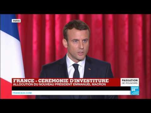 REPLAY - 1er discours d'Emmanuel Macron, président de la République française