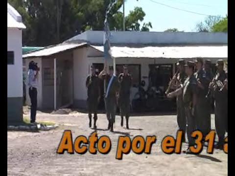 Acto por 31 aniv del Escuadron Brazo Largo de Gendarmeria