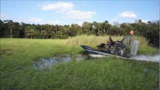 CBM Motorsports supercharged LS3 in a Panther Air Boat.