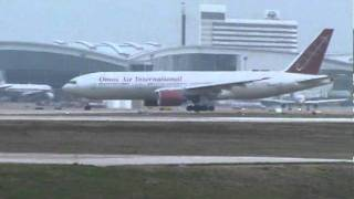 Omni Air International 777 Taxing