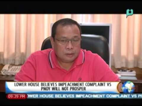 Lower House believes impeachment complaint vs. President Aquino will not prosper - 1/21/14