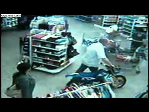 Man Shoplifts Dirt bike