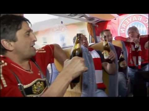 Bayern Munich fans load up with beer for their Champions League journey