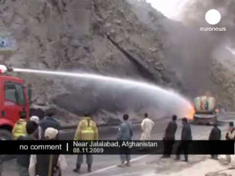 NATO supply convoy attacked in Afghanistan