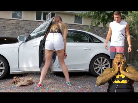 Extreme Car Prank 1 Million Orbeez In Her Car Reaction!