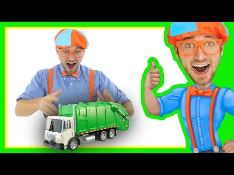 Garbage Truck with Blippi Toys | Educational Toy Videos for Children