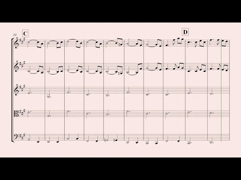 A time for Us String Quartet for beginners  Romeo and Juliet music sheet