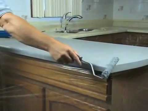 Refinish Countertop Paint Lowes : SpreadStone? Countertop Finishing Kit - Instructional Video ...