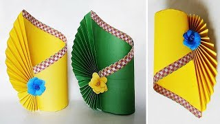 How To Make a Flower Vase at Home | Making Paper Flower Vase | DIY Simple Paper Crafts